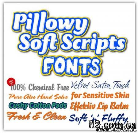 Pillowy soft scripts fonts fontshop